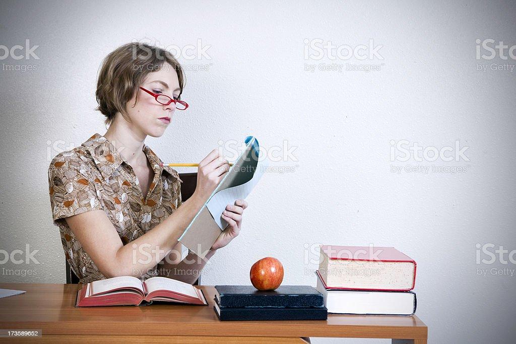 Yes, Teacher royalty-free stock photo