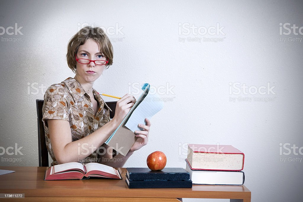 Yes, Teacher. royalty-free stock photo