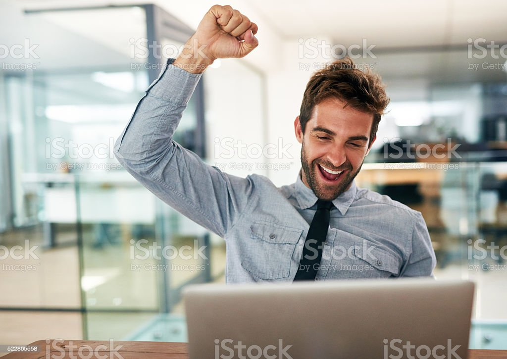Yes to success! stock photo