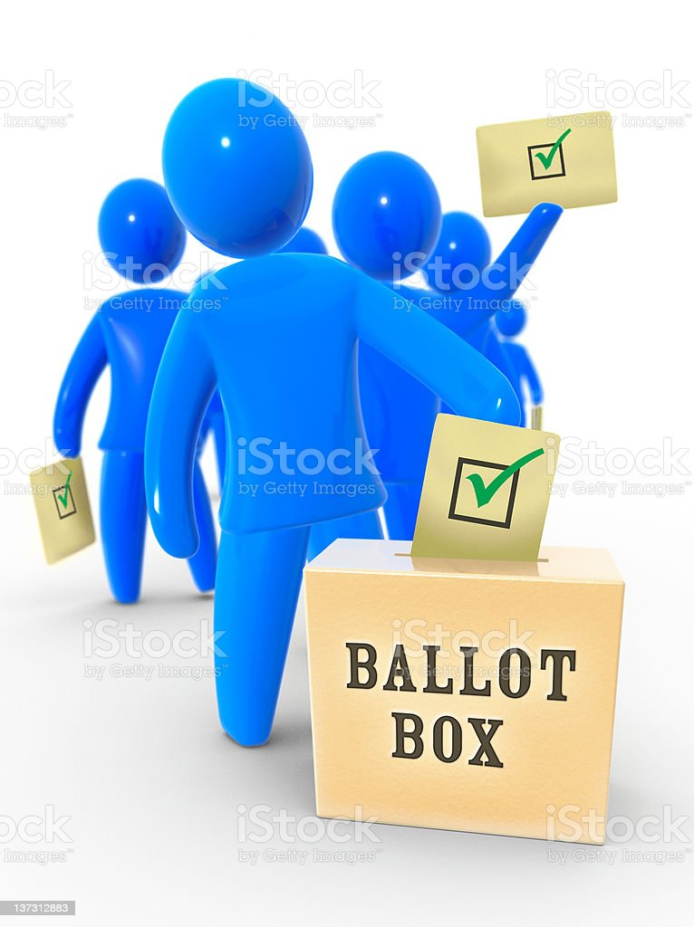 Yes vote royalty-free stock photo
