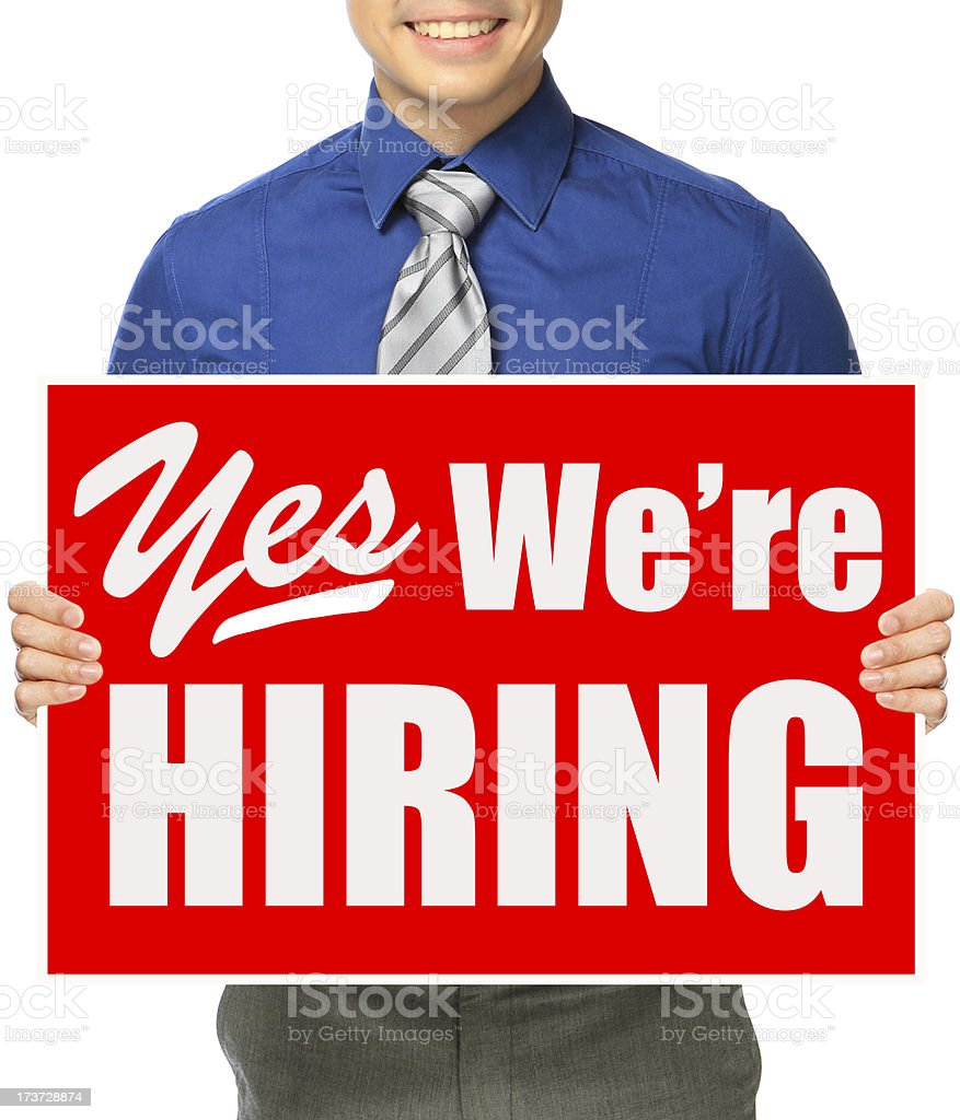 Yes We Are Hiring! royalty-free stock photo
