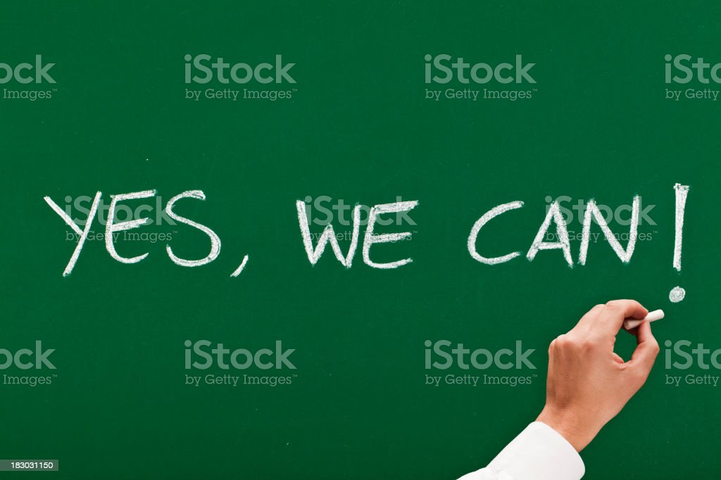 Yes we can royalty-free stock photo