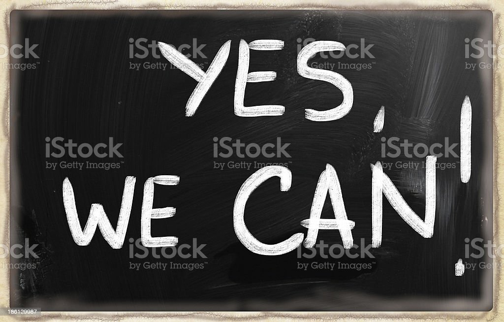 Yes, we can! stock photo