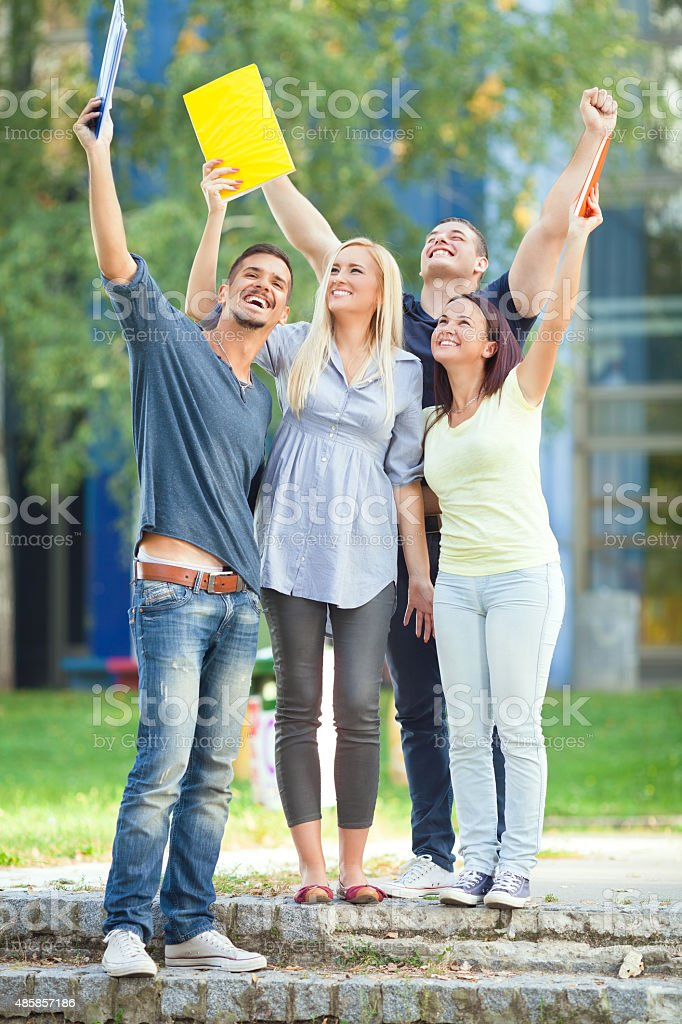 Yes, We Did It! stock photo