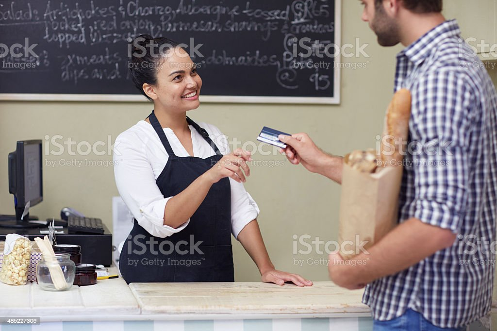 Yes, we do accept credit cards stock photo