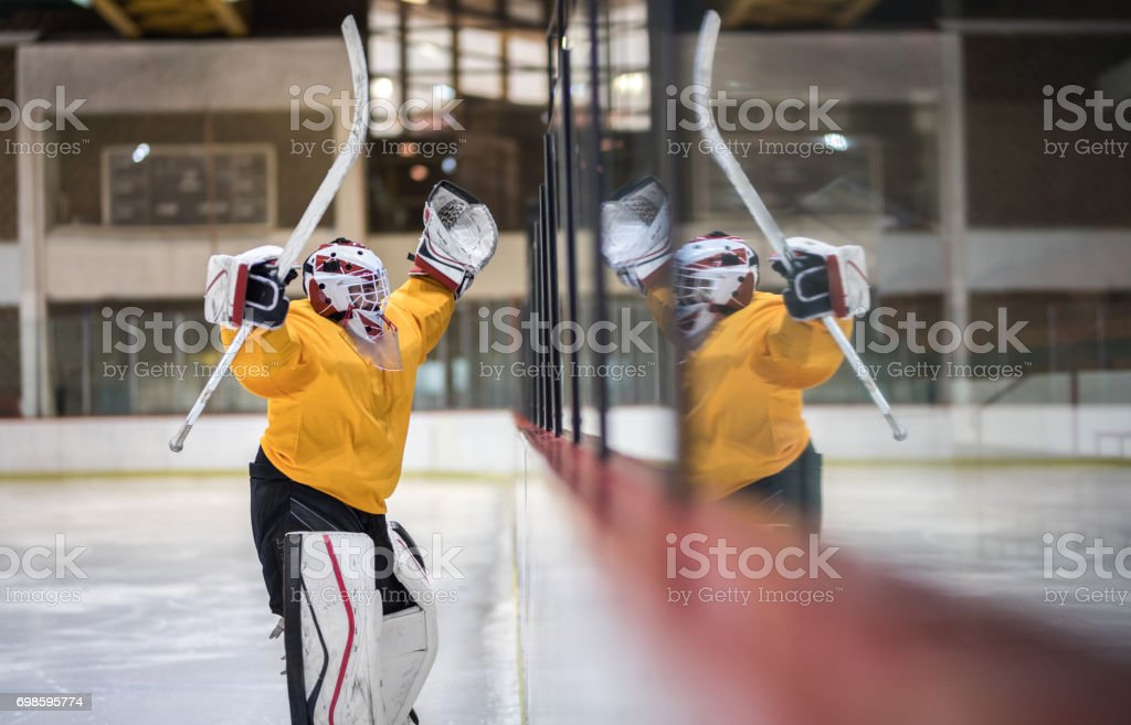 Yes, we have won the game! stock photo