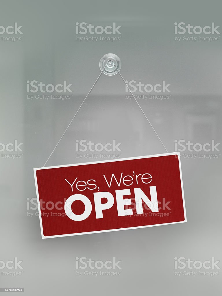 Yes, we're open stock photo