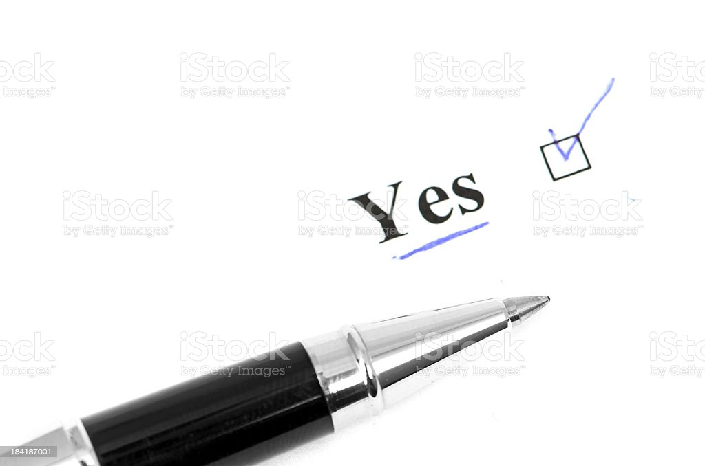 yes word royalty-free stock photo