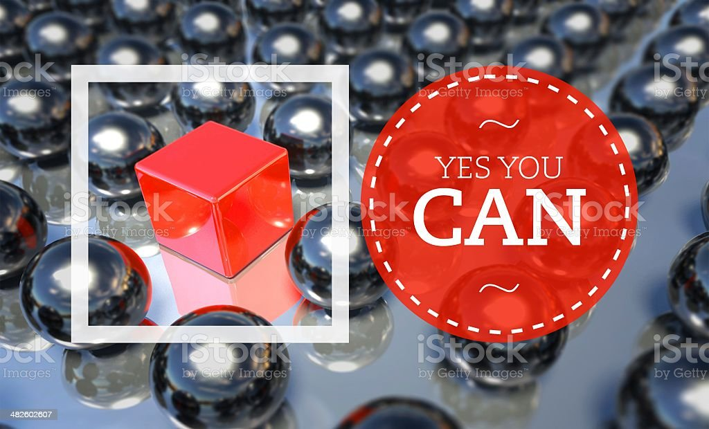 Yes you can business concept stock photo