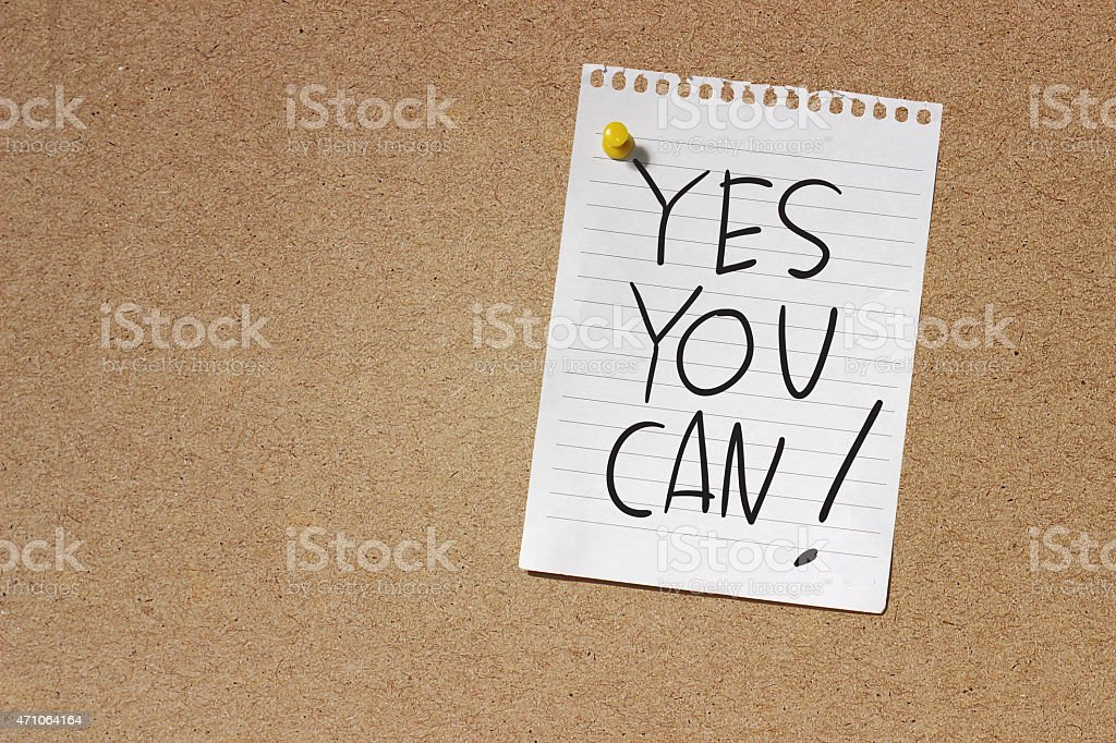 Yes You Can stock photo
