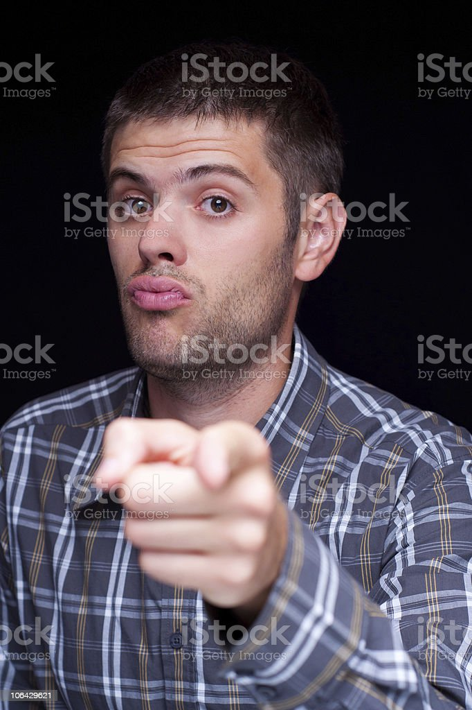 Yes you ! stock photo