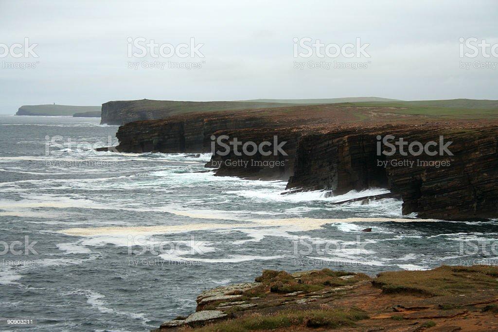 Yesnaby coast stock photo