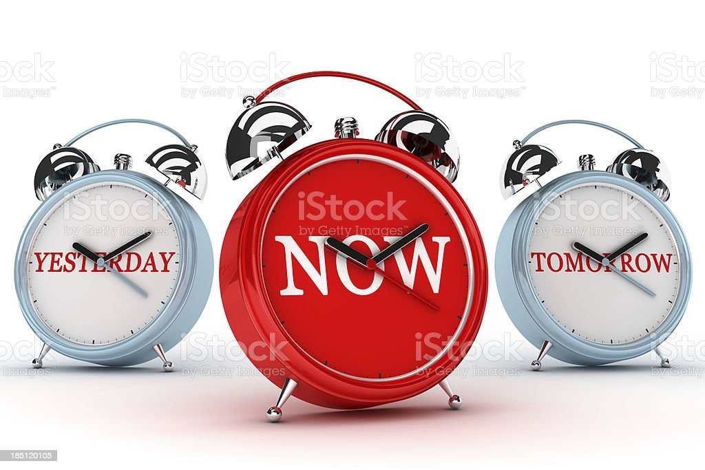 Yesterday Now and Tomorrow royalty-free stock photo