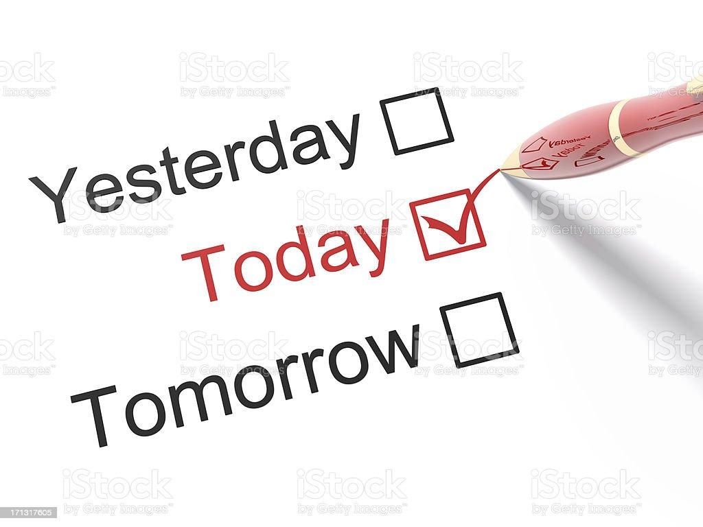 Yesterday, Today, Tomorrow stock photo