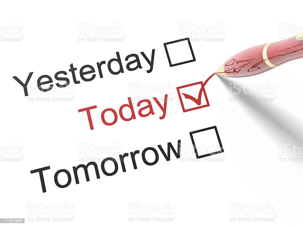 Yesterday, Today, Tomorrow stock photo