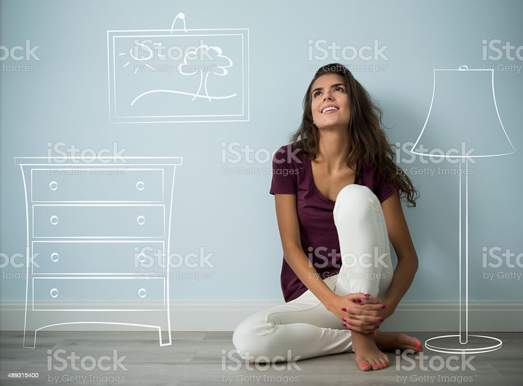 Yet this project is in my head stock photo