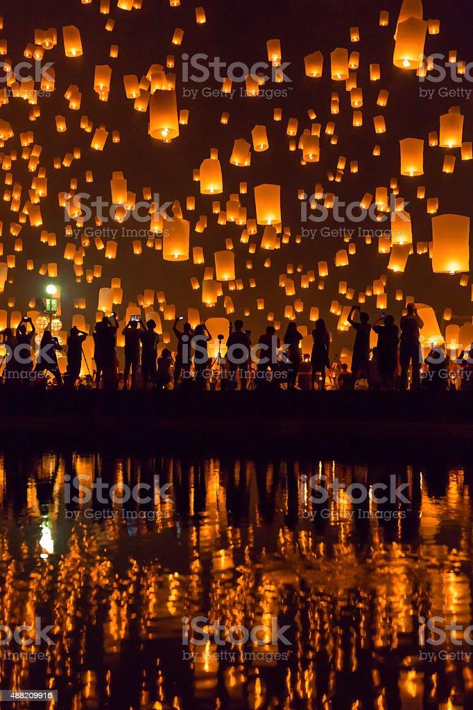 Yi Peng festival, Chiang Mai, Thailand stock photo