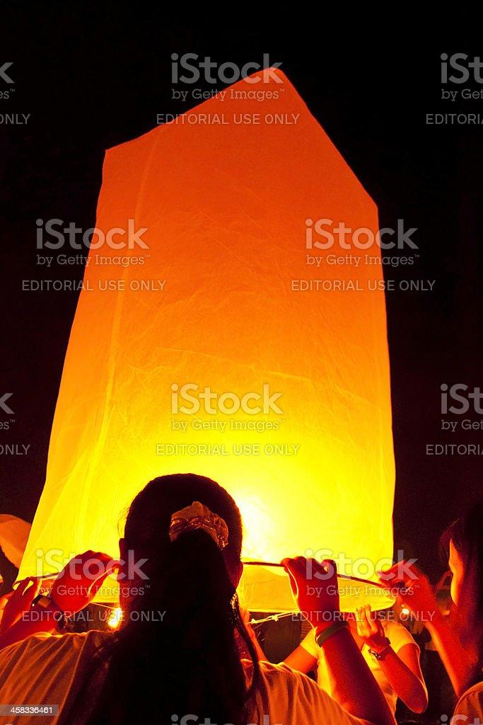 Yi Peng fajerwerk Święto w Chiangmai Tajlandia zbiór zdjęć royalty-free