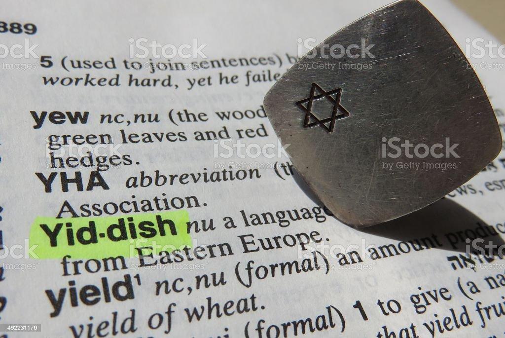 Yiddish dictionary definition stock photo