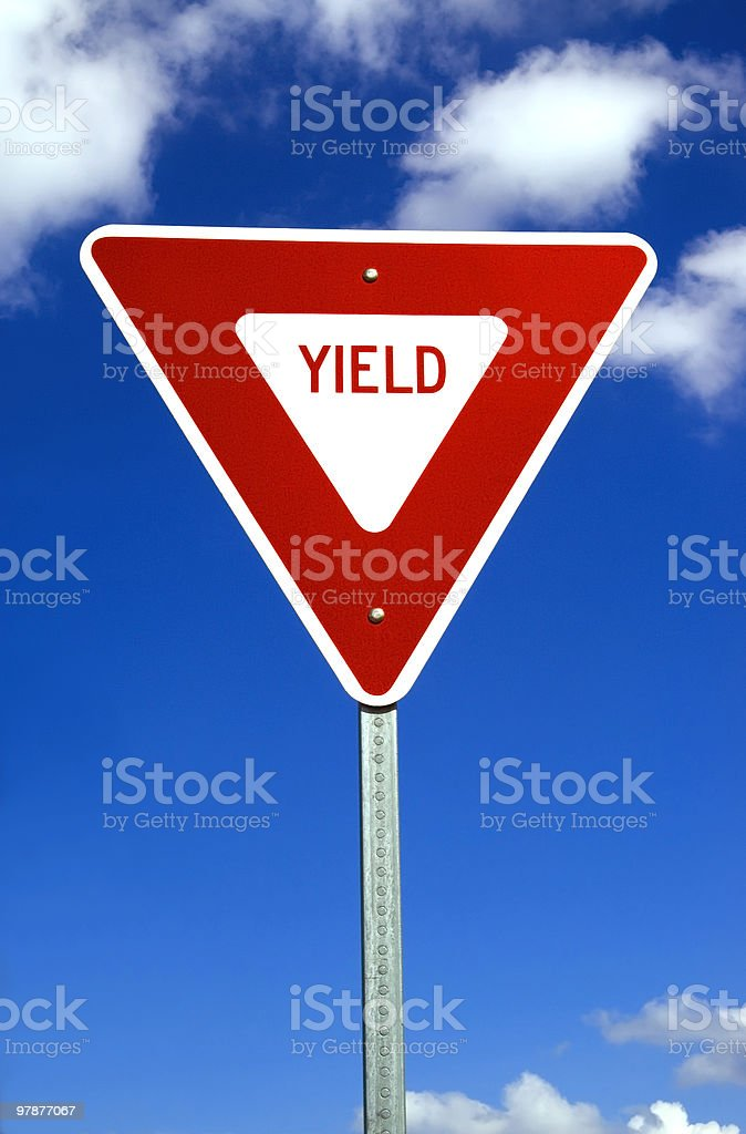 Yield Sign royalty-free stock photo