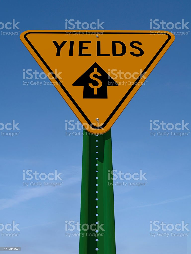 yields sign 1 stock photo