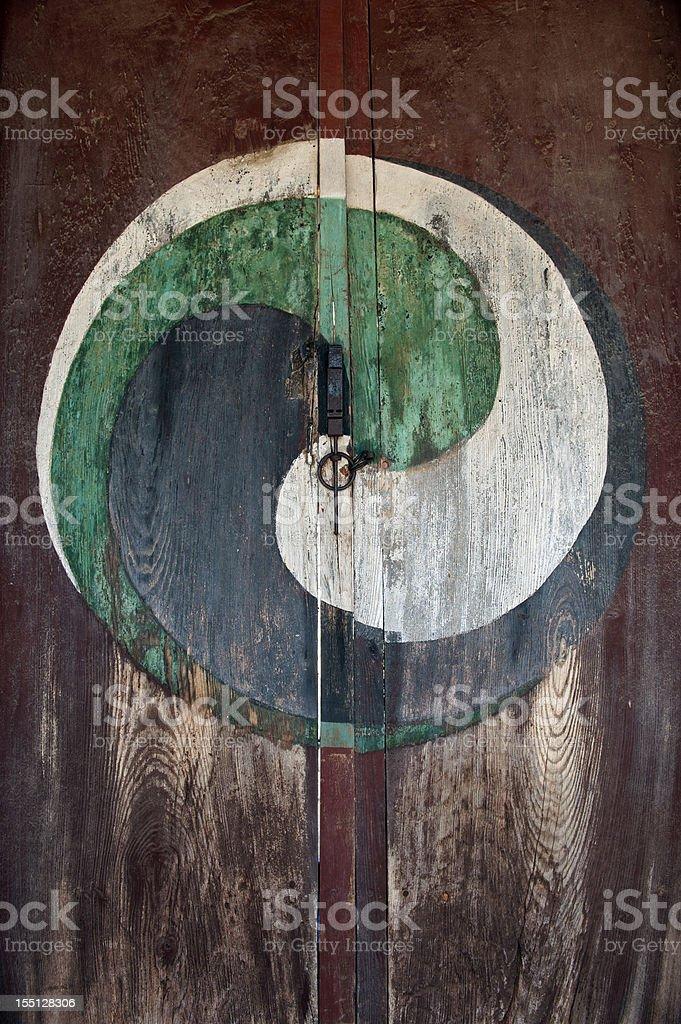 Yin and Yang door royalty-free stock photo