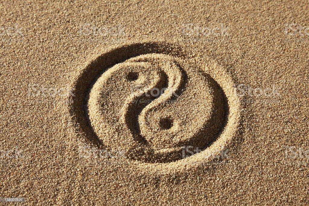 Yin and Yang royalty-free stock photo