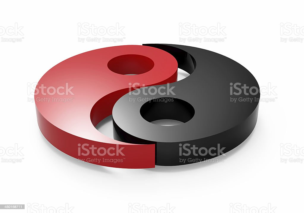 yin and yang royalty-free stock photo