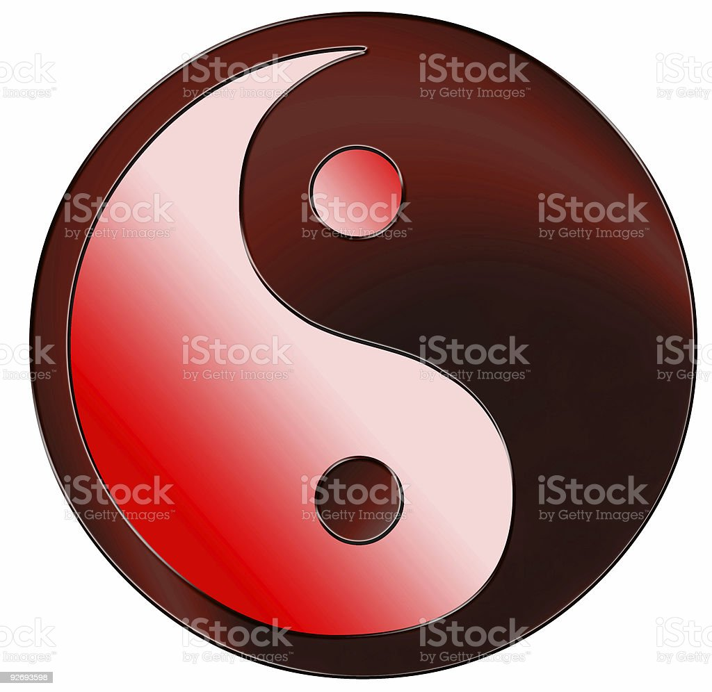Yin Yang 04 royalty-free stock photo
