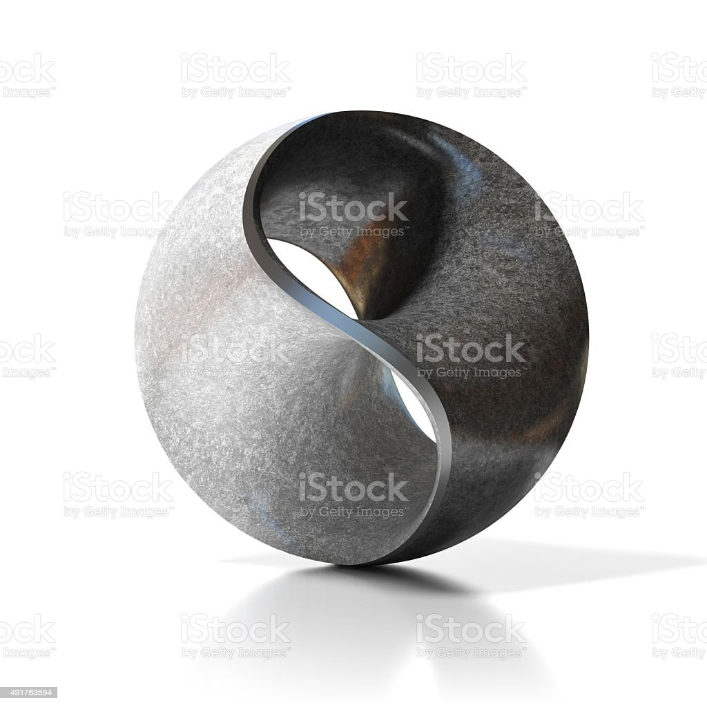 yin yang abstract modern sculpture stock photo