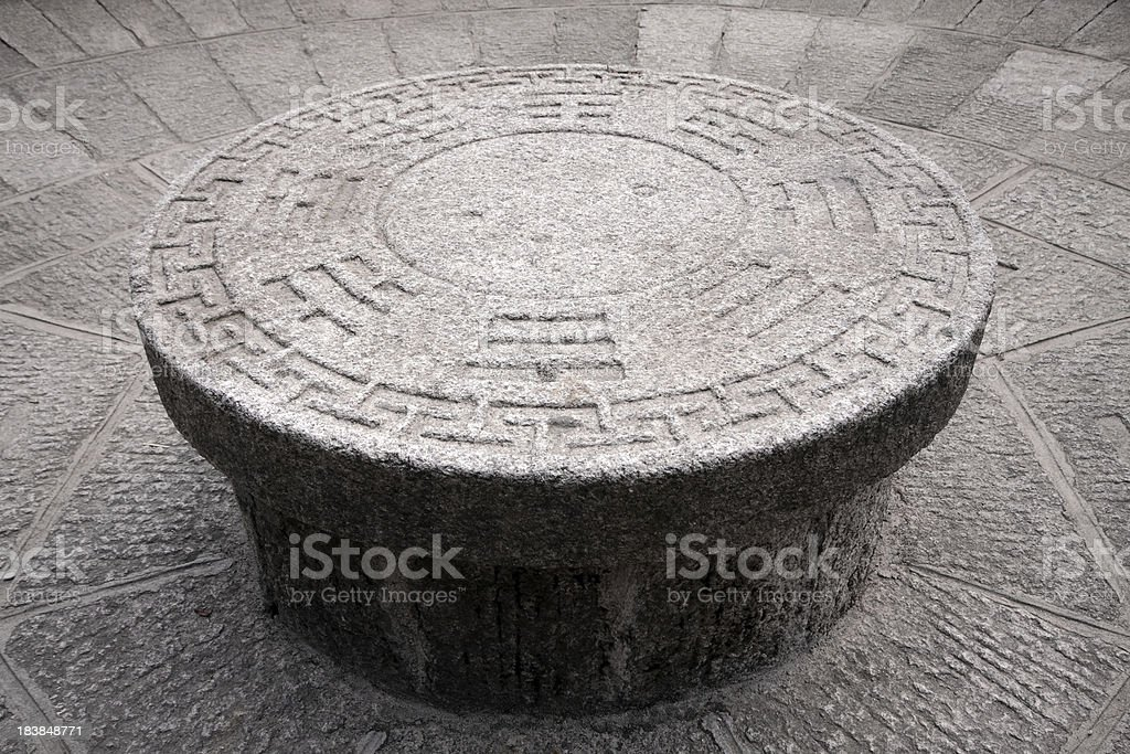 Yin Yang Bagua Table stock photo