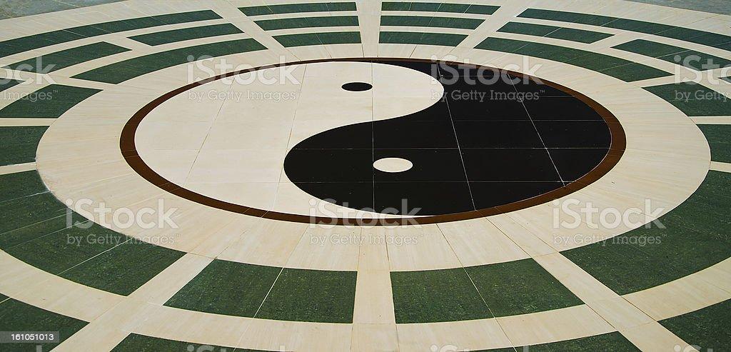 Yin yang floor ground royalty-free stock photo