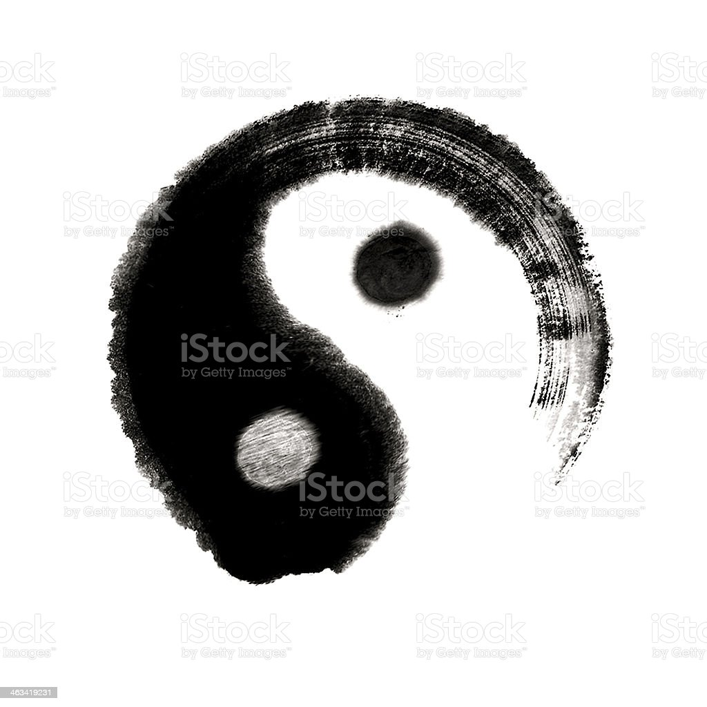 yin yang - Great ultimate chinese medicine painting stock photo