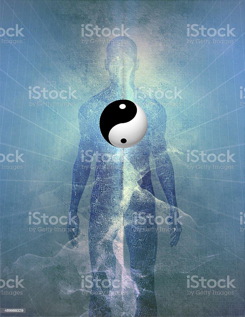 Yin Yang Human stock photo