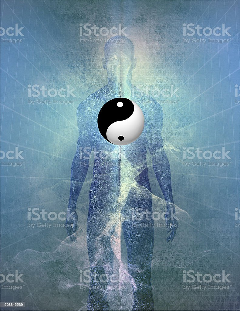 Yin Yang Human stock photo