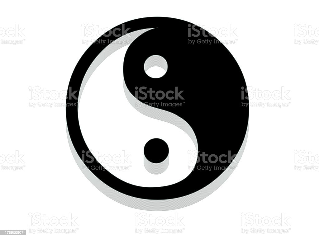 Yin Yang Icon. stock photo