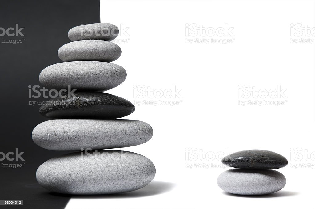 Yin Yang Pebble Stack royalty-free stock photo