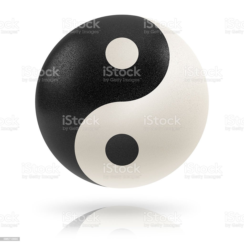 Yin yang. stock photo
