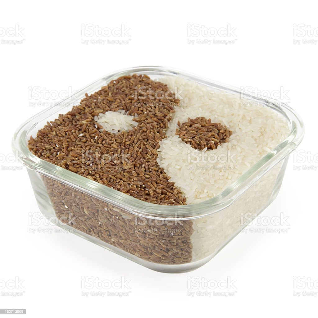 Yin Yang Rice royalty-free stock photo