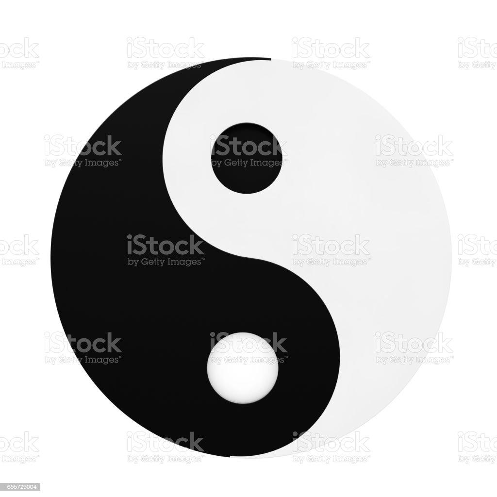 Yin Yang Symbol of Harmony and Balance. 3d Rendering stock photo