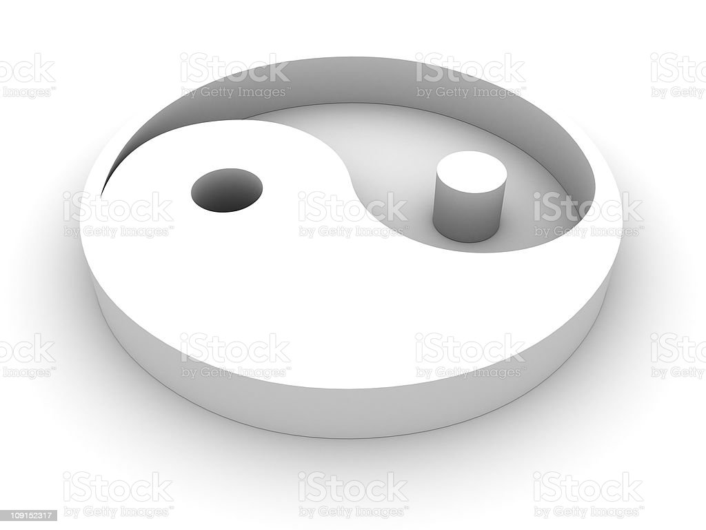 yin yang symbol stock photo