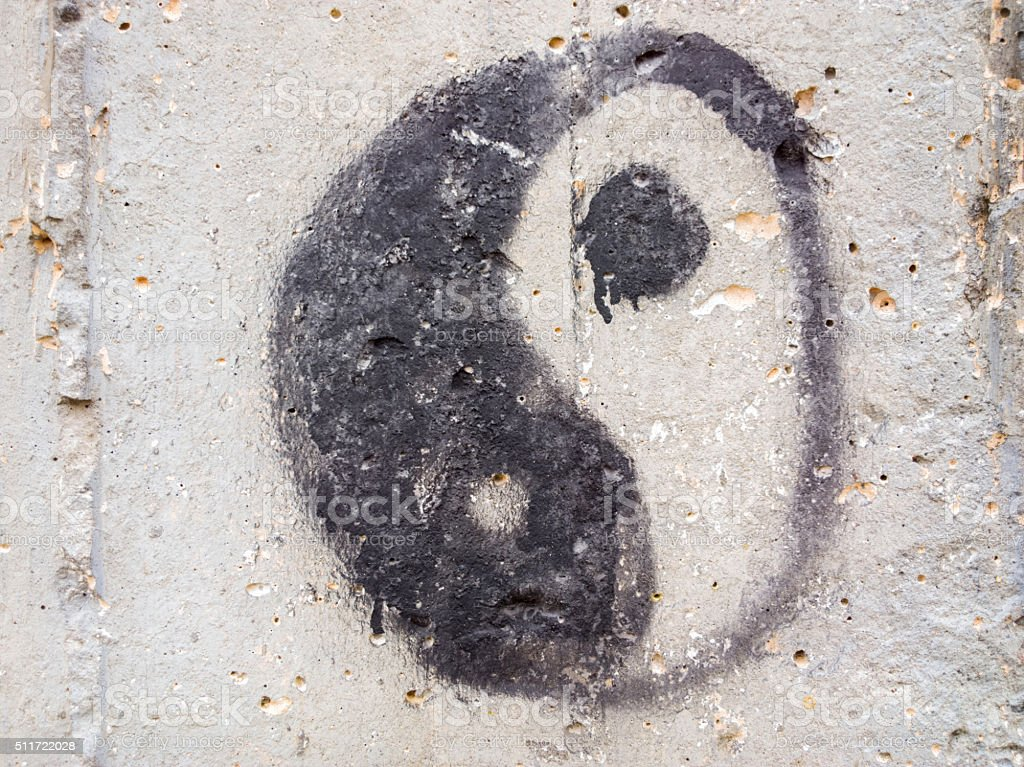 Yin Yang Symbol. stock photo