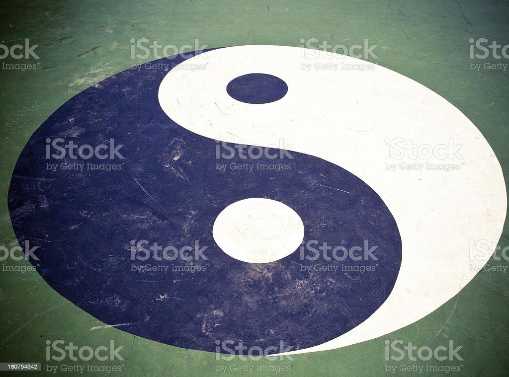 Yin Yang Taiji royalty-free stock photo