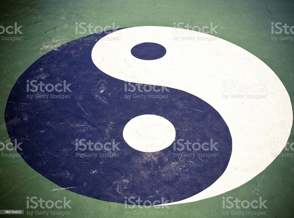 Yin Yang Taiji stock photo