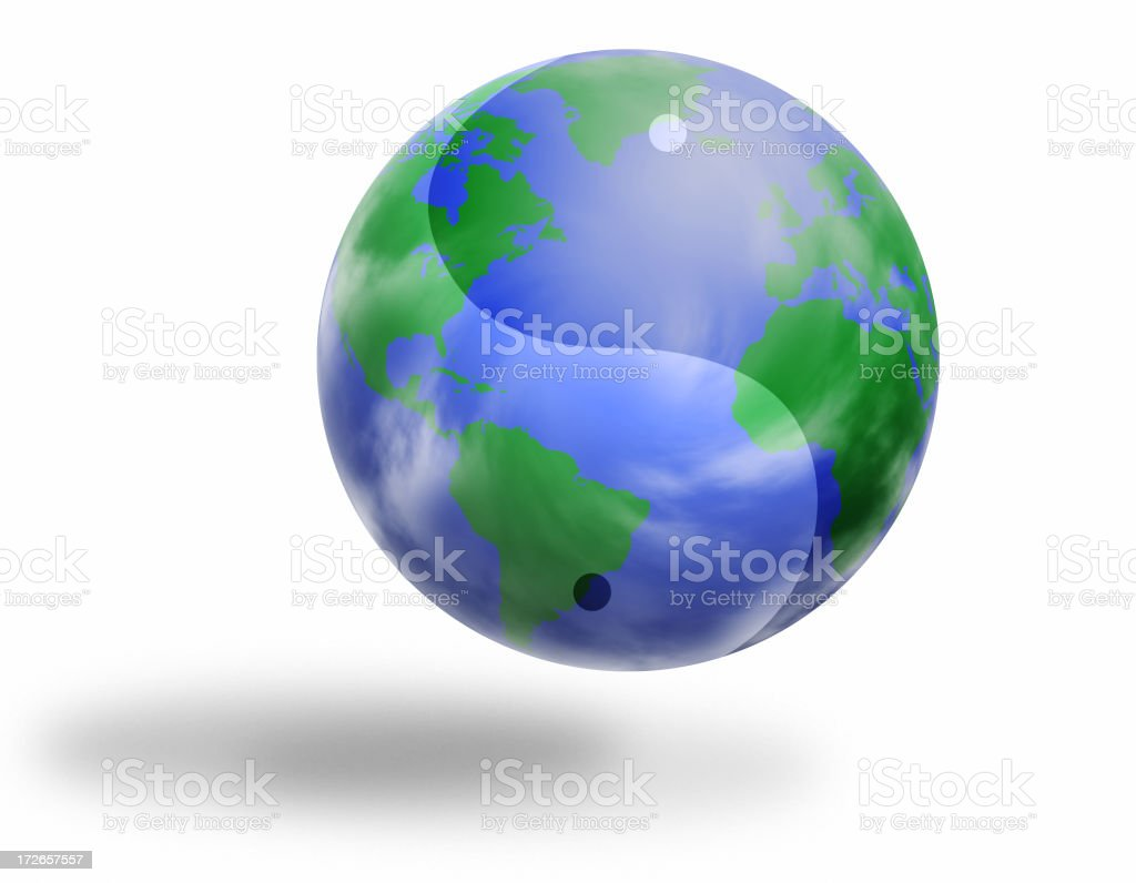 Yin Yang World royalty-free stock photo