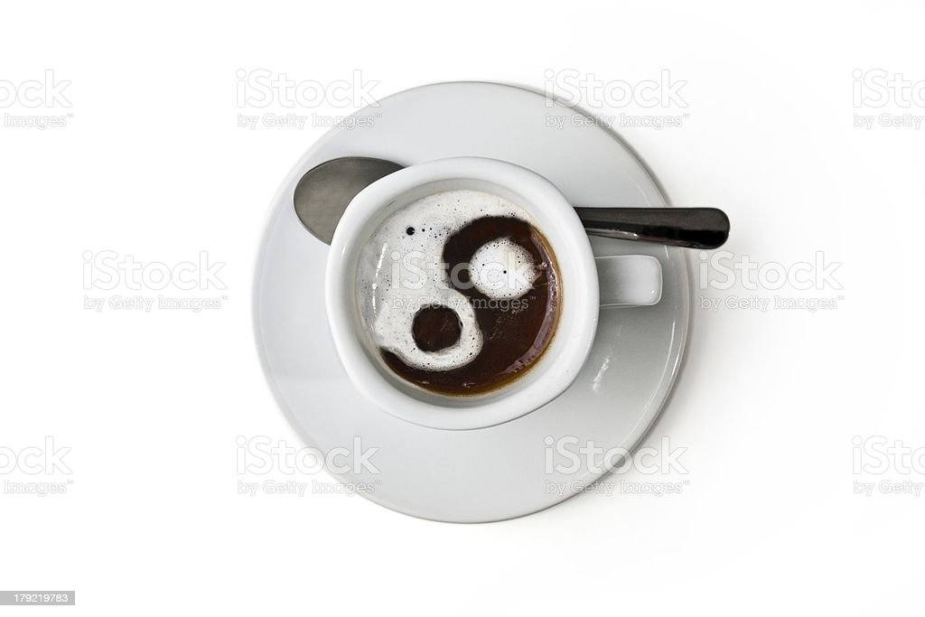 Ying yan Cup of coffee royalty-free stock photo