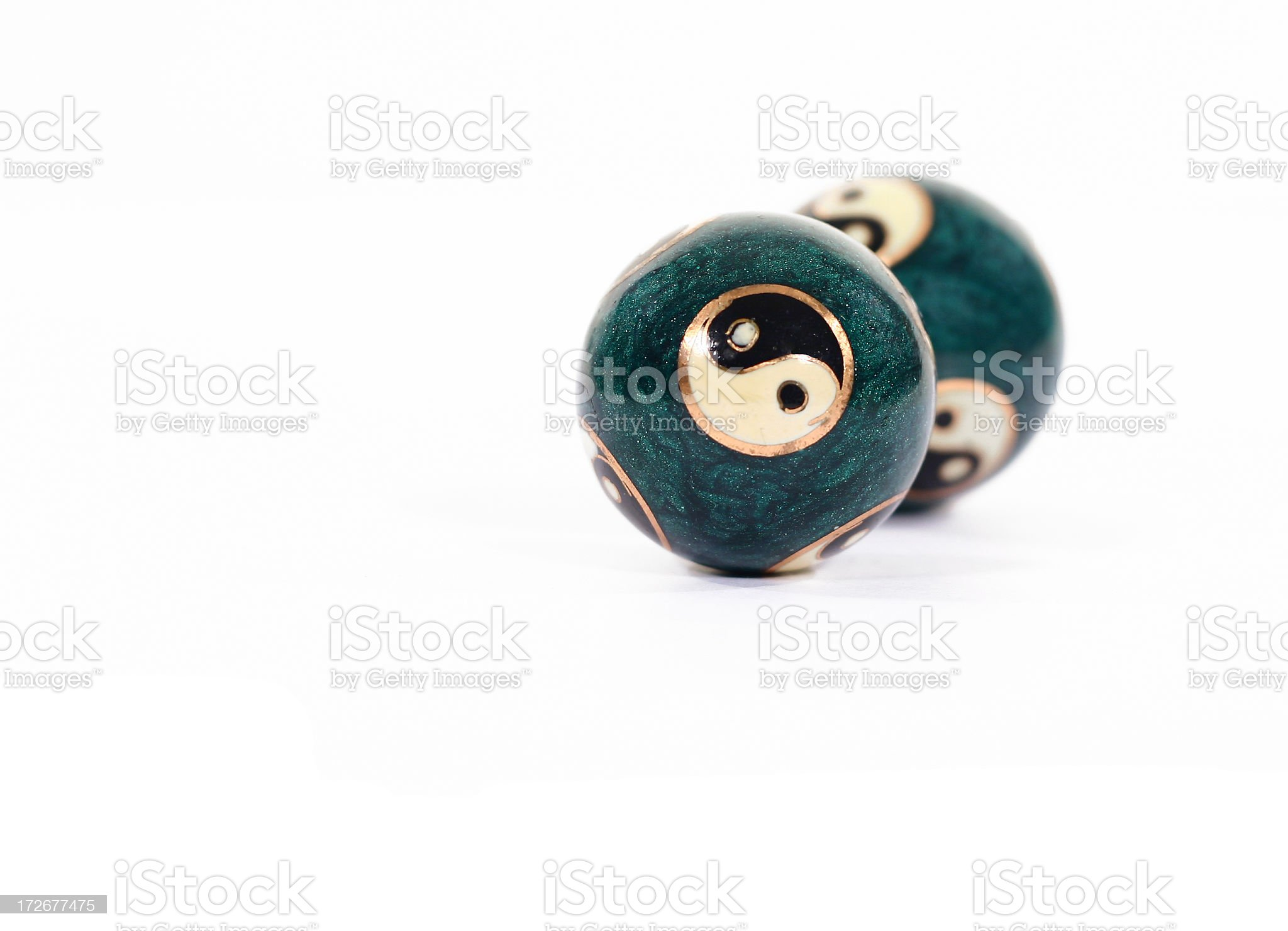 Ying Yang Balls 04 royalty-free stock photo