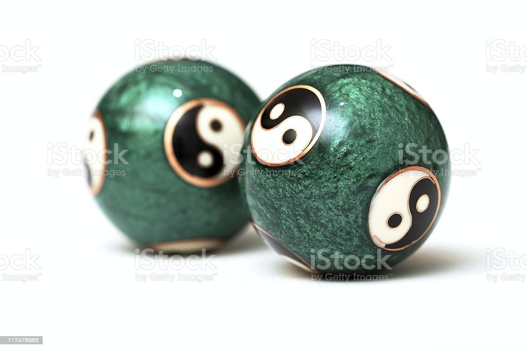 Ying Yang Balls royalty-free stock photo