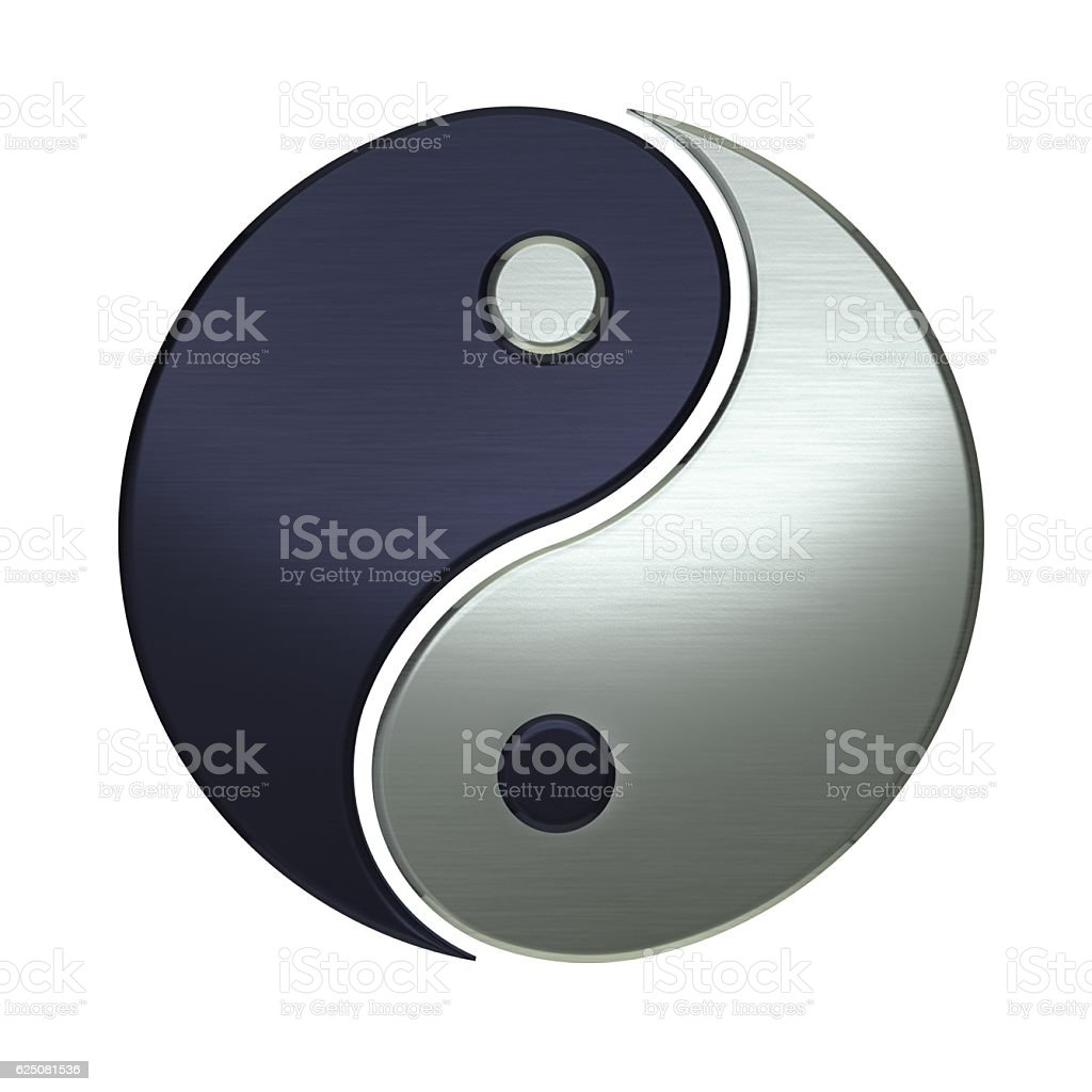 Ying Yang Harmony Symbol and Balance stock photo