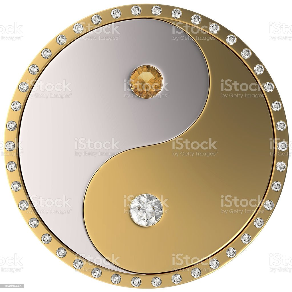 Ying Yang jewel sybmol royalty-free stock photo